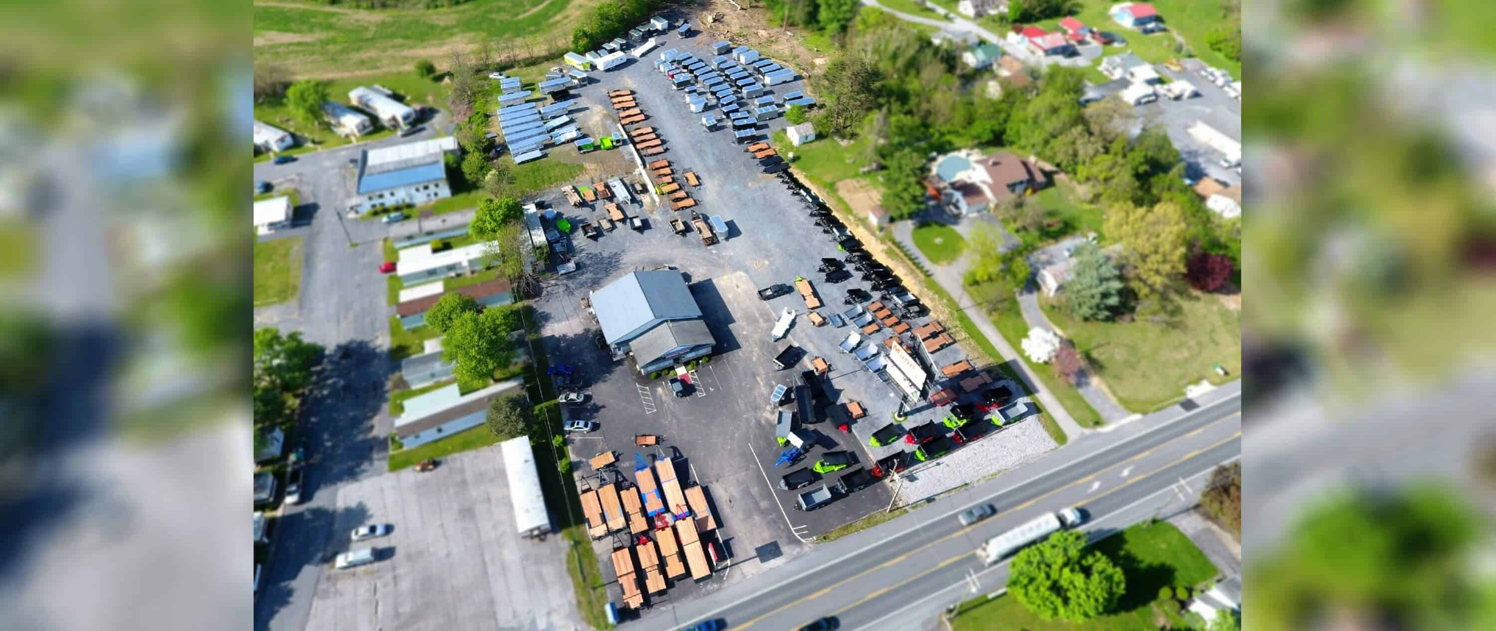 Aerial photography of Brechbill Trailers