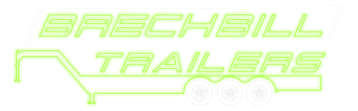 Glowing Brechbill Trailers Logo