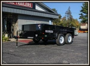 Dump trailer for sale black
