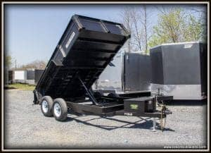 Bri-Mar Dump Trailer 81.5x12'x10K (DT712LP-LE-10) black- white seet wheels