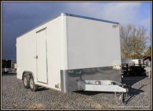 Bravo Aluminum Star Enclosed Cargo Trailer 97x15'8x7K (SSAC8516TA2) WHITE