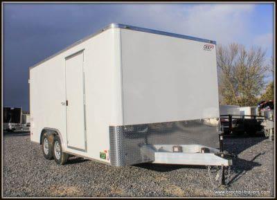 Bravo Aluminum Star Enclosed Cargo Trailer 97x15'8x7K (SSAC8516TA2) WHITE