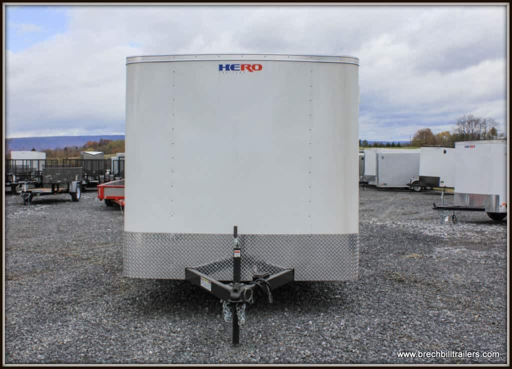 Bravo Hero Enclosed Cargo Trailer 81x14'4x7K (HR714TA2) WHITE