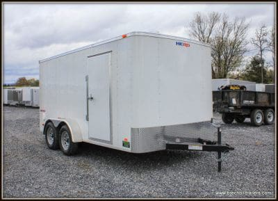 Bravo Hero Enclosed Cargo Trailer 81x14'4x7K (HR714TA2) WHITE