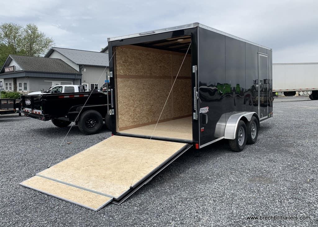 Enclosed Box Trailer Ramp Door Black