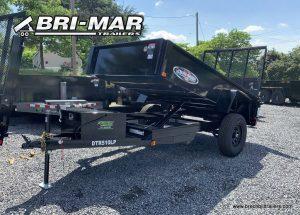 BRI-MAR DUMP TRAILER FOR SALE BLACK LANDSCAPE GATE BLACK WHEELS