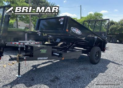 BRI-MAR DUMP TRAILER FOR SALE BLACK LANDSCAPE GATE BLACK WHEELS