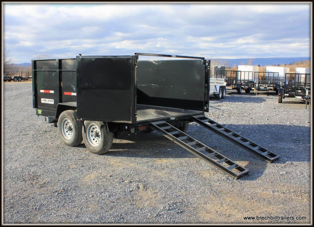 Bri-Mar Dump Trailer BLACK (DT712LP-LE-14) 44 HIGH SIDES