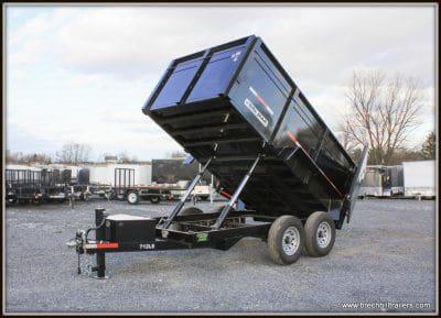 Bri-Mar Dump Trailer BLACK (DT712LP-LE-14) 44 HIGH SIDES