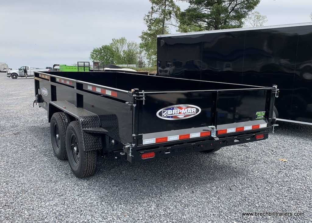 BLACK DUMP TRAILER BLACK WHEELS