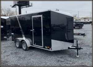 Bravo Scout Enclosed Cargo Trailer 7'x14'x7K (SC714TA2) BLACK, 6 EXTRA 1.3