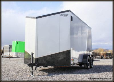Bravo Scout Enclosed Cargo Trailer 81x14'6x7K SC714TA2 2 TONE SILVER AND CHARCOAL