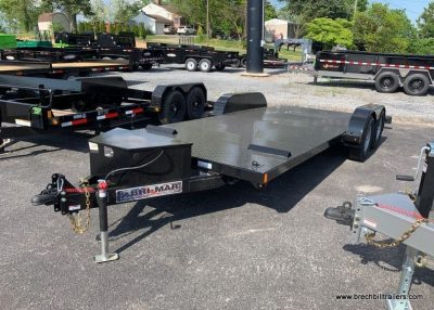 TILTING CAR HAULER TRAILER BLACK