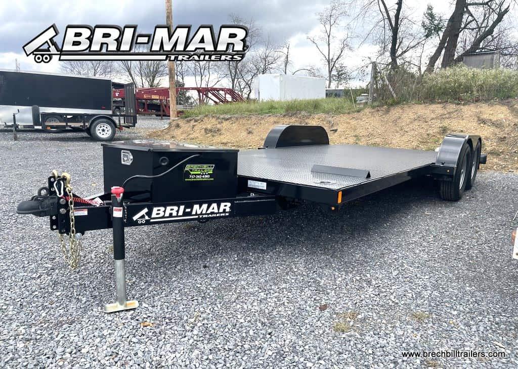 BLACK BRI-MAR CARHUALER TRAILER STEEL DECK FOR SALE NEAR ME