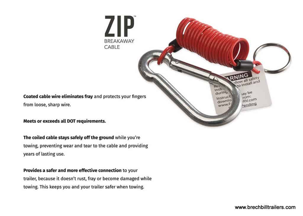 trailer ZIP Coiled Breakaway Switch & Cable
