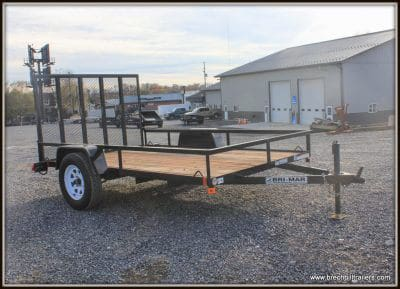 Used 2017 Bri-Mar Utility Trailer 76x10'x3K (UTE-610) BLACK