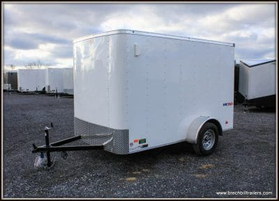 Bravo Hero Enclosed Cargo Trailer WHITE (HR610SA)