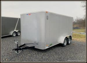 Bravo Hero Enclosed Cargo Trailer 81x14'4x7K (HR714TA2) silver, ramp door