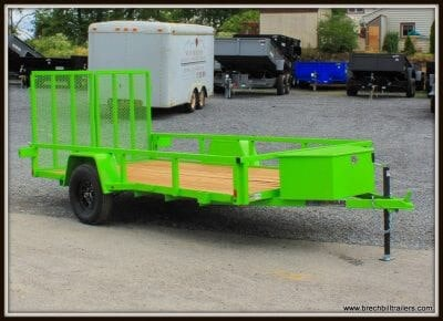 BRI-MAR UT-612 LIME GREEN UTILITY TRAILER