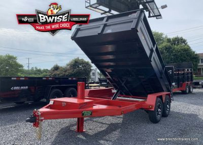 Black and Red Dump Trailer for Sale near me bwise