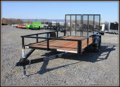 Bri-Mar Utility Trailer (UT-712-SA) BLACK, SPLIT LANDSCAPE GATE