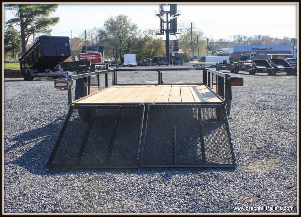 Bri-Mar Utility Trailer (UT-712-SA) BLACK, SPLIT LANDSCAPE GATE