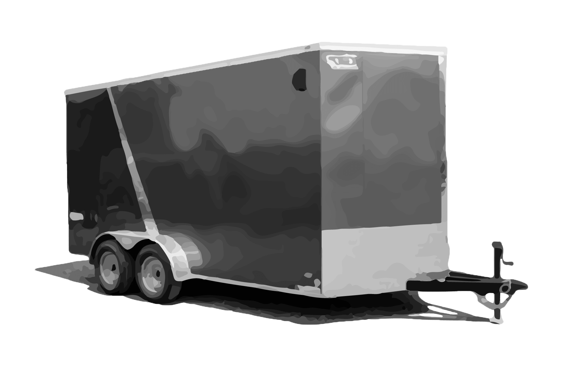 Bravo-Scout-Enclosed-Cargo-Trailer-7'x14'x7K-SC714TA2-Paint Black and White