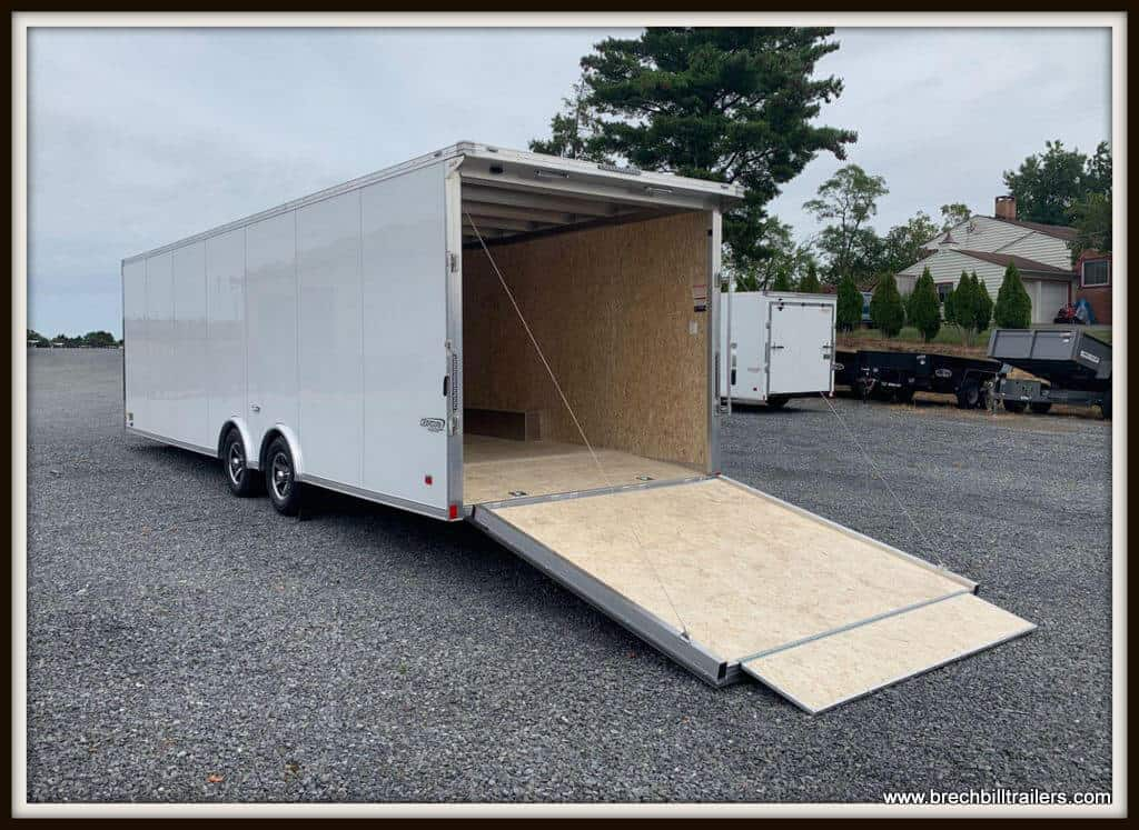 Bravo Silver Star Aluminum Auto Enclosed Trailer