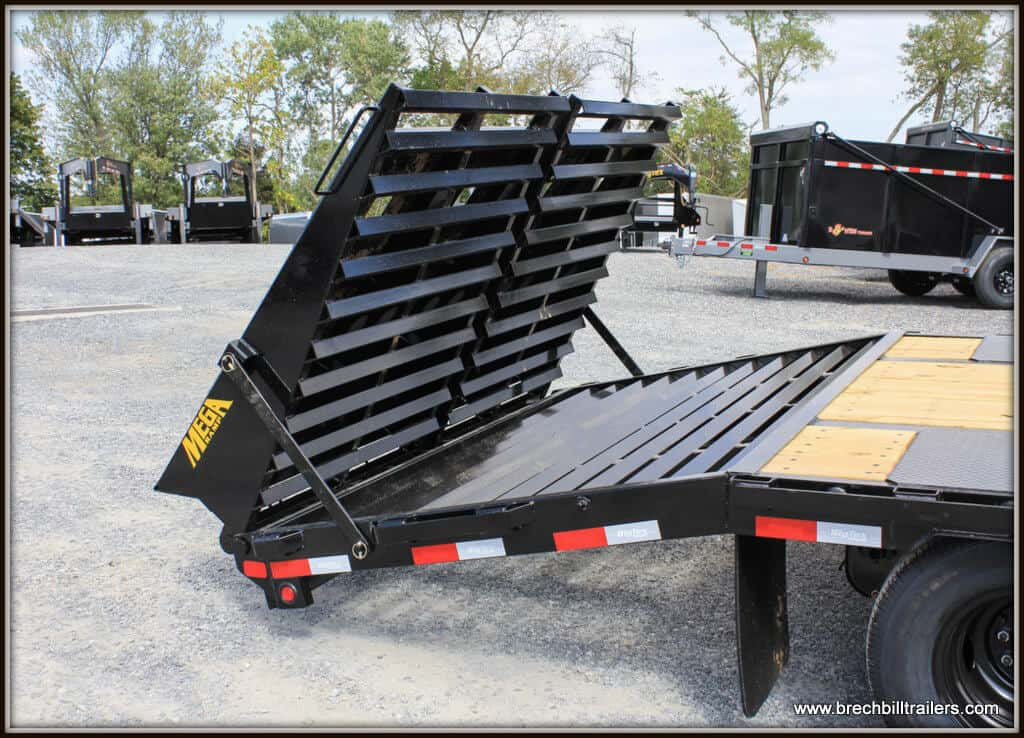 Big Tex Trailers Dove tail with Mega Ramps