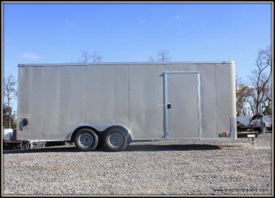 Bravo Scout Enclosed Cargo Trailer 96x20'6x7K (SC8520TA2) Gray Dove, Equip Auto Pkg, flat nose