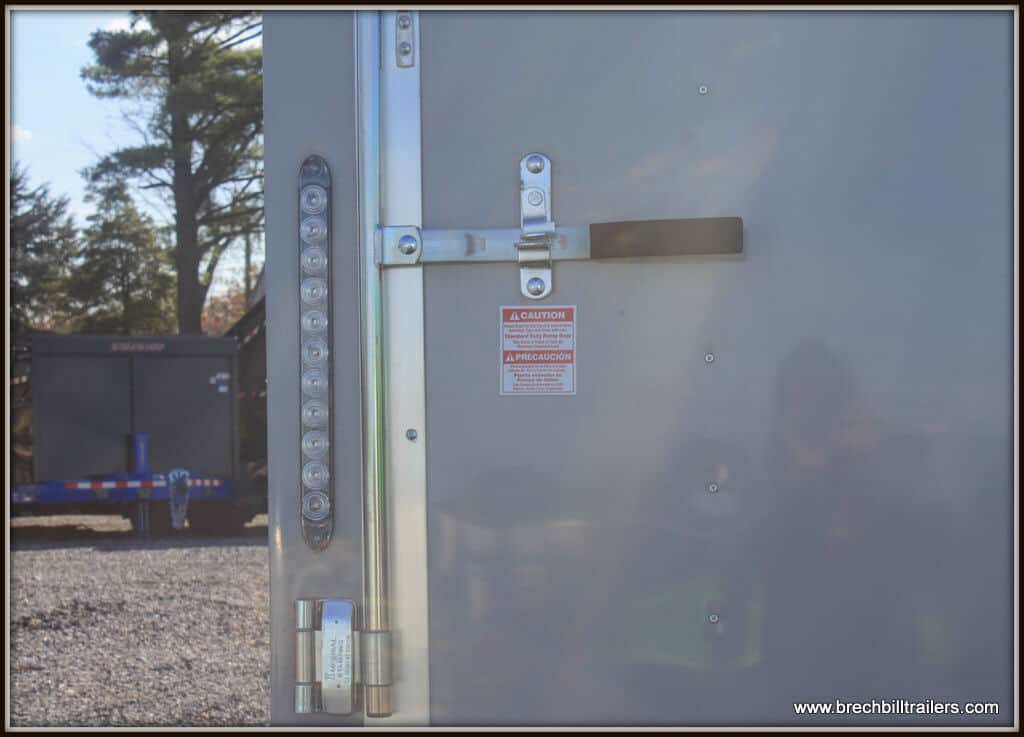 Bravo Scout Enclosed Cargo Trailer 96x20'6x7K (SC8520TA2) Gray Dove, Equip Auto Pkg, flat nose