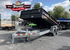 BLACK AND GRAY FENDER STYLE DUMP TRAILER FOR SALE NEAR ME
