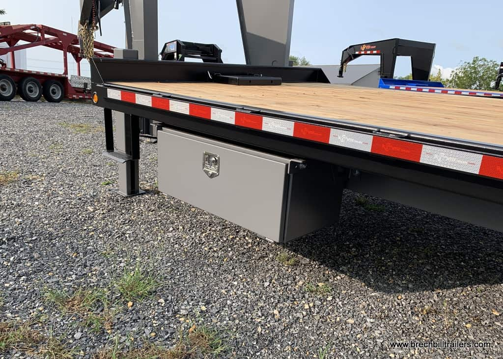 Bwise Tilt Deck Trailer 102x24'x16K (THDG24-16), HTONE GRAY DECK, HTONE BLACK FRAME, HYD FLIP UP TAIL, TOOL BOX, 7