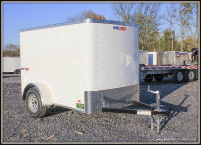 Bravo Hero Enclosed Cargo Trailer 56x8'4x3K (HR58SA)