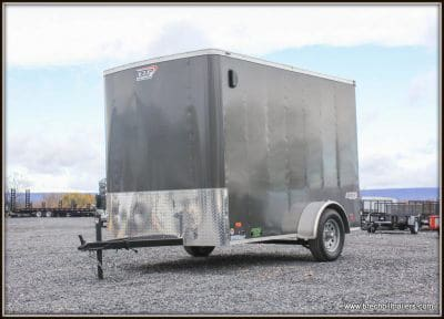 Bravo Scout Enclosed Cargo Trailer 68x10'5x3K (SC610SA) 6 Extra, Charcoal Metallic, Ramp Door