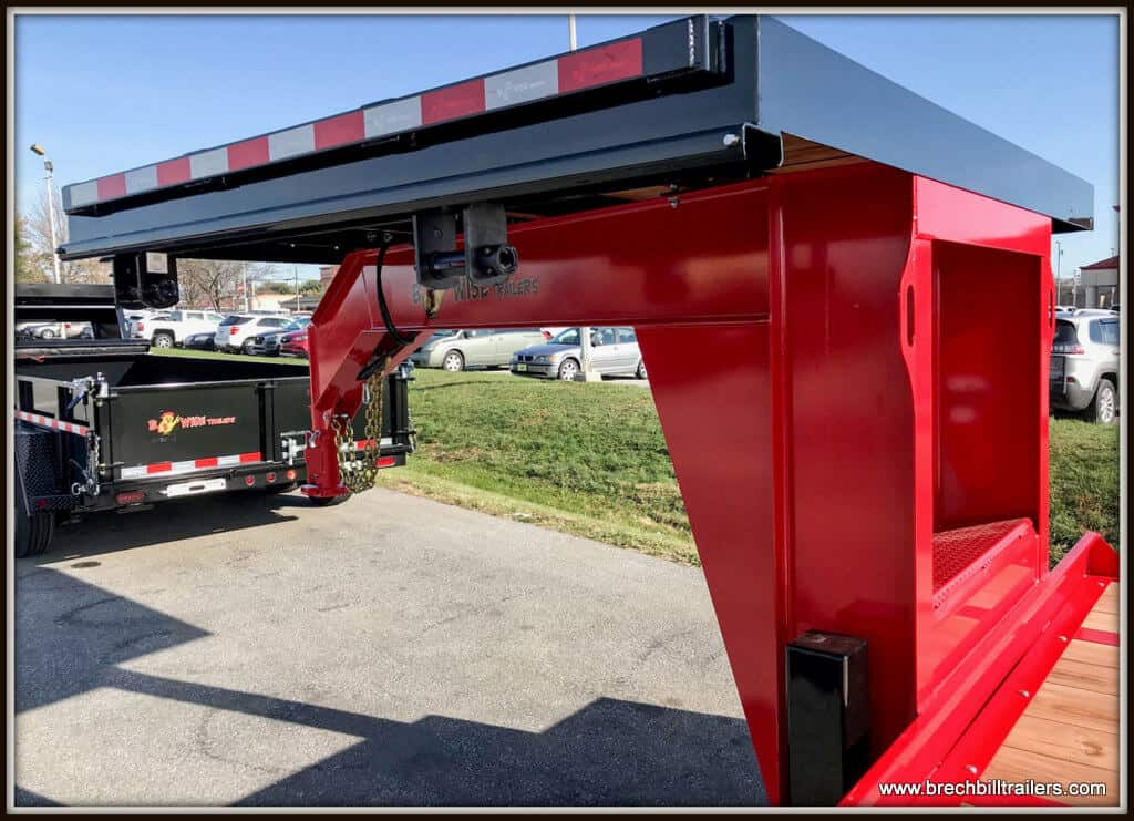 Bwise Gooseneck Deck Over Equipment Trailer (EDG32-25) RED