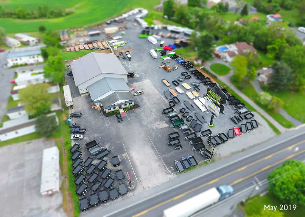 Brechbill Trailer Sales Over Head sky view shot May 2019 New Shop