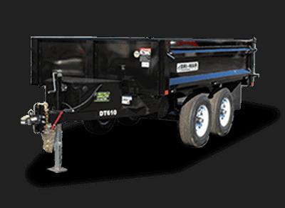 Bri-Mar DP Series Dump Trailer DT610-10-DP Black 1