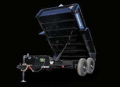 Bri-Mar R Series Dump Trailer` - Bri-Mar Dump Trailer 72x10'x10K (DTR610LP-10) black - black mod wheels