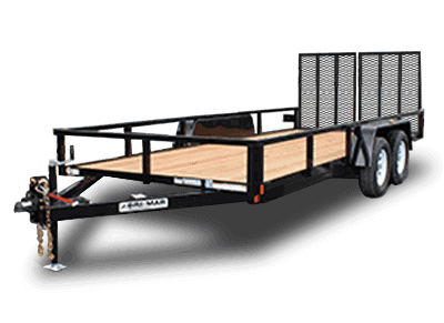Bri-Mar UT Series Utility Landscape Trailer Black UT-718