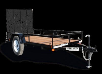Bri-Mar UTE Series Utility Landscape Trailer Black UTE-510