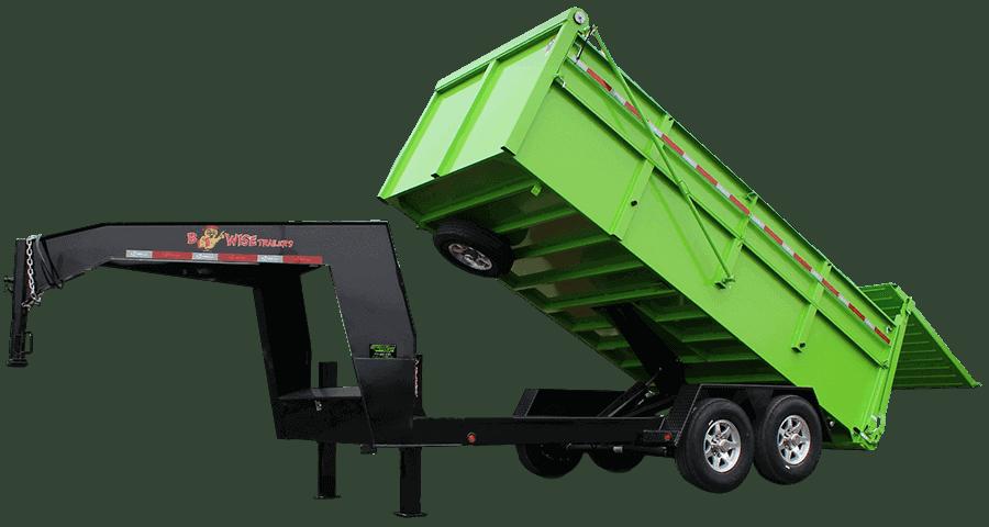 DUG Lime Black bwise Ultimate Dump Trailer Gooseneck Catalog 1