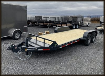 Belmont Skid Steer Equipment Trailer 82x18'x12K (SS1018-12K) Charcoal
