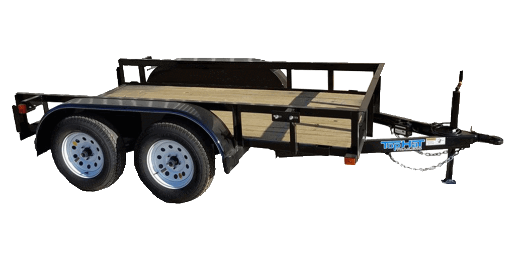 Top Hat 5 Wide Angle Pipe Flatbed Tandem Axle Landscape Trailer 1.3