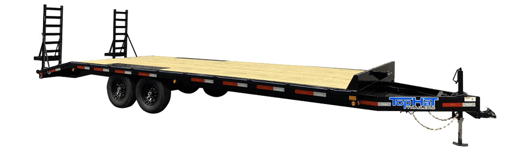Top Hat Deck Over Bumper Pull Equipment Trailer DO