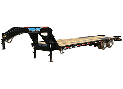 Top Hat Deck Over Gooseneck Equipment Trailers