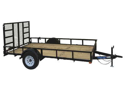 Top Hat Derby SR Angle Single Axle Utility Trailer 1