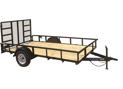 Top Hat Derby SR Pipe Single Axle Utility Trailer 1