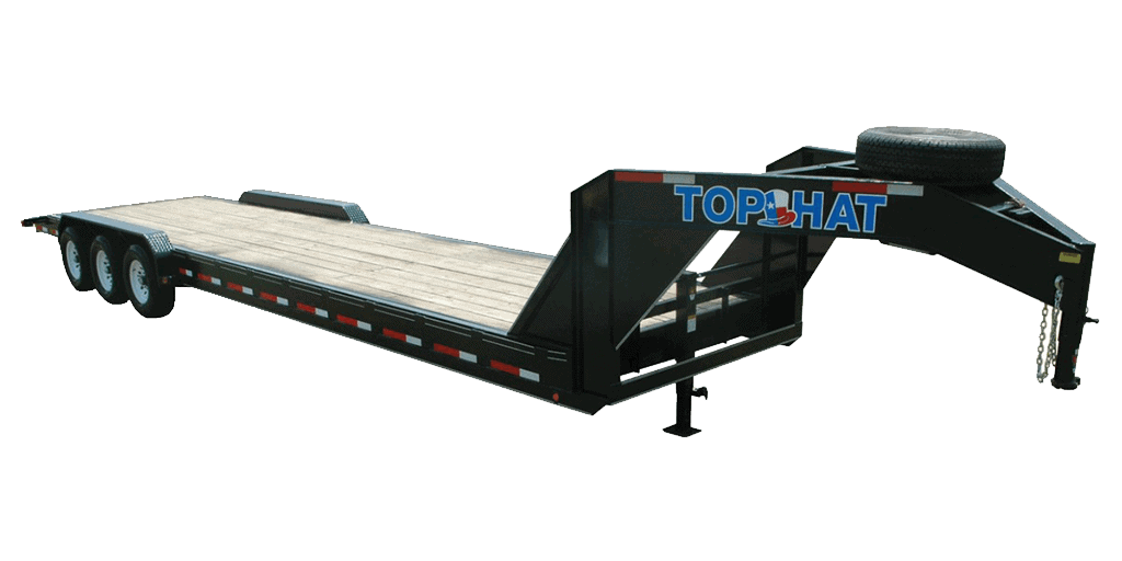 Top Hat Equipment Hauler Gooseneck 21K Fender Style Equipment Trailer 1.2