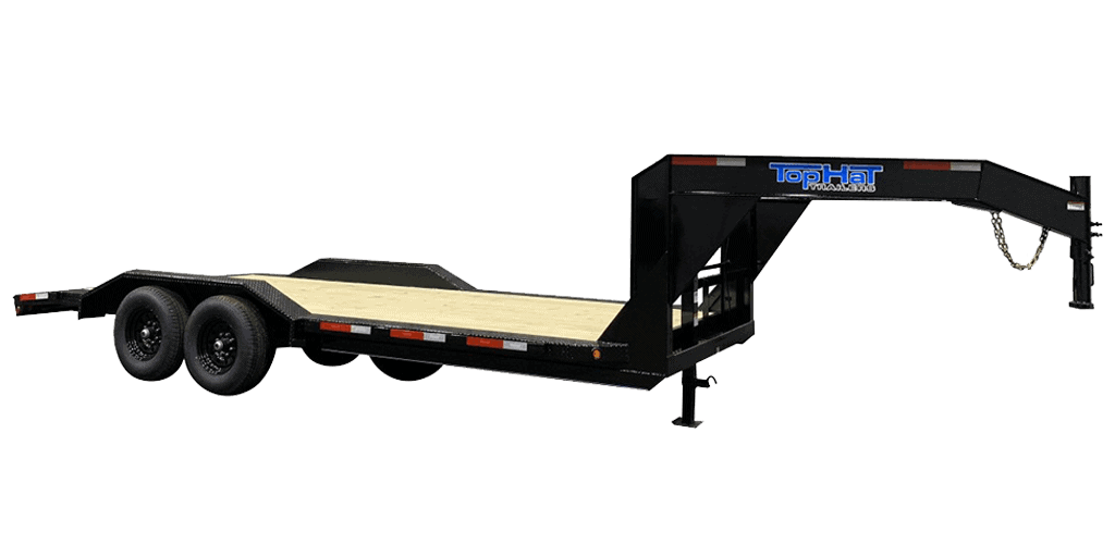 Top Hat Gooseneck Wide Drive Over 14K Fender Style Equipment Trailer 1.2